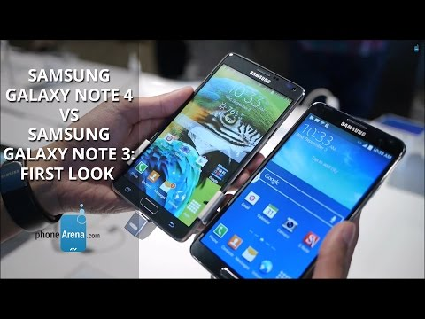 Samsung Galaxy Note 4 vs Samsung Galaxy Note 3: first look