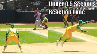 MLB Third Basemen Showing Off Their Reflexes Compilation