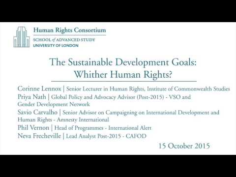 The Sustainable Development Goals: Whither Human Rights?