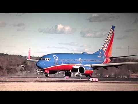 Southwest Airlines PLK-TUL take off. Clark-Taney County Airport. 3738 ft long 1-13-2014