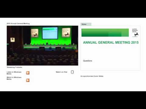 Lloyds Banking Group - 2015 Annual General Meeting - Keith Elliott