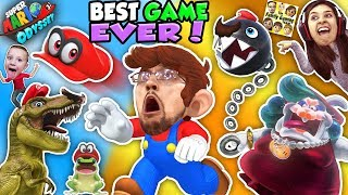 SUPER MARIO ODYSSEY 💗 FGTEEV! DINOSAURS, FROGS & CHOMP CHAINS R BOSS! BEST VIDEO GAME EVER! (Pt. 1)