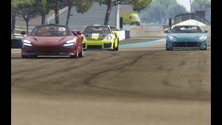 Battle Porsche 911 GT2 RS '18 vs Ferrari 812 Superfast vs McLaren 720S at Circuit Paul  Ricard