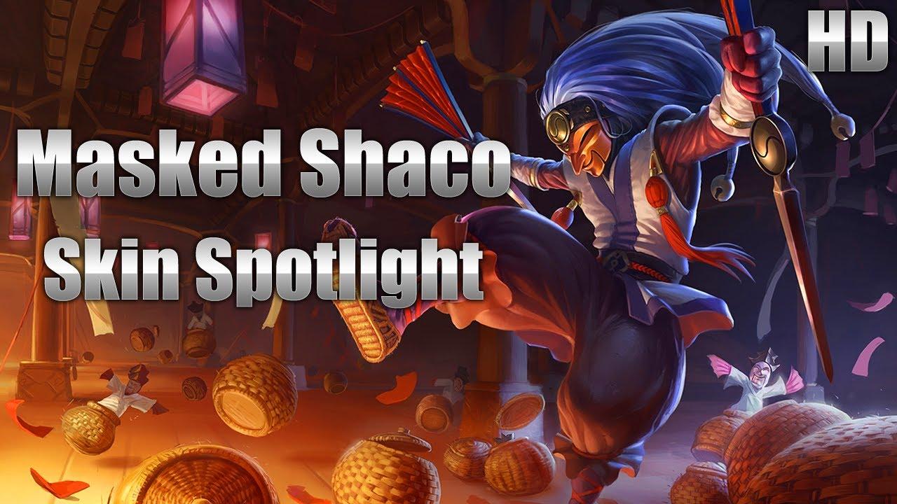 masked shaco skin spotlight youtube