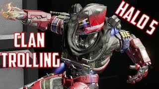 TROLLING THE HALO 5 ANIME CLAN KIDS - Halo 5 Goofs and Gafs