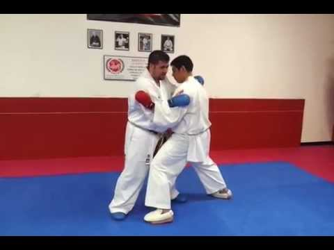 How to do a WKF rules Karate Point fighting OR MMA Clinch + TakeDown Technique Image 1