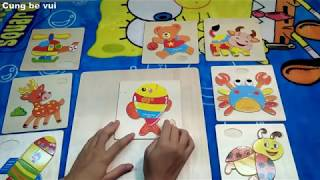 Đồ Chơi Trẻ Em Ghép Hình Các Con Vật / Ghép Hình Thông Minh Với Tranh 3D giúp trẻ Nhớ và Thông Minh