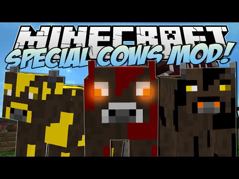 Minecraft | SPECIAL COWS MOD! (Cows with Elemental Powers!) | Mod Showcase