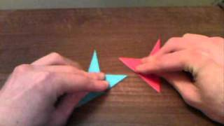 Folding Two Origami Birds At The Same Time