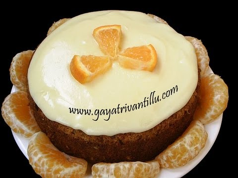 Orange Cake – Eggless – Indian Recipes – Telugu Ruchulu