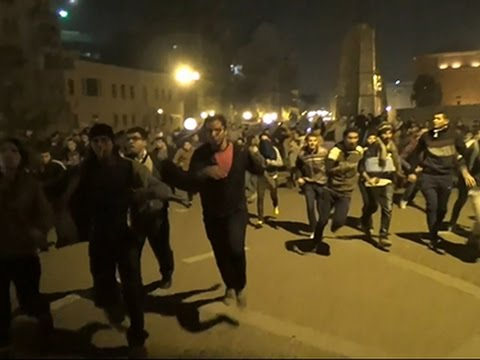Raw: Clashes in Egypt After Mubarak Verdict