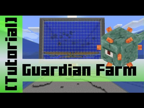Guardian Farm 15000 Items h Tutorial Minecraft 1.8
