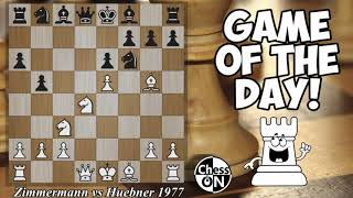 Game of the Day! Zimmermann vs Huebner 1977