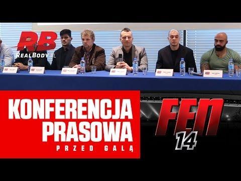 KONFERENCJA PRASOWA PRZED GALĄ FEN 14: SILESIAN RAGE WARSZAWA 12.10.2016