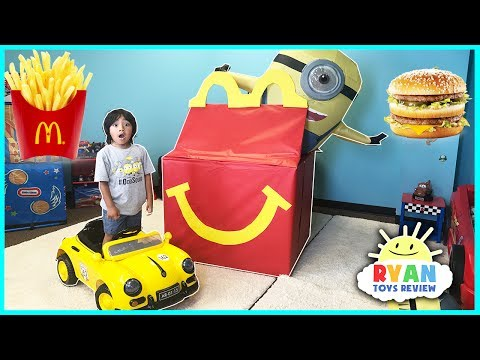 McDonald's Drive Thru Prank with Giant McDonald's Happy Meal & Power Wheels Fast Car
