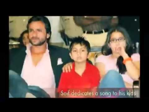 Saif Ali Khan sings songs for his Kids Video