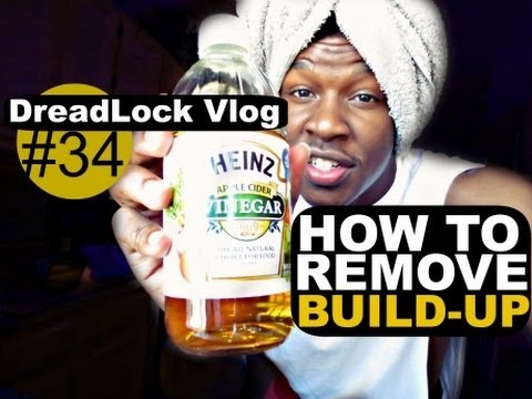DreadLock Vlog #34: How To Remove Build-up - Baking Soda & ACV Rinse @BraxtonPITRE