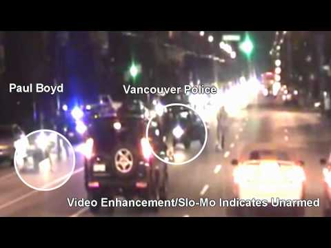Vancouver Police Department Shooting: Video Analysis: Paul Boyd Innocent??