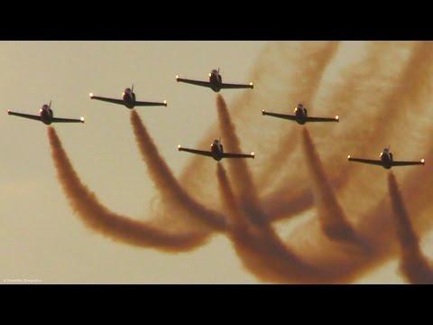 6 L39 Albatros Formation - Baltic Bees @ BIAS2015 - Evening Display - Aerobatics, lowpasses + smoke