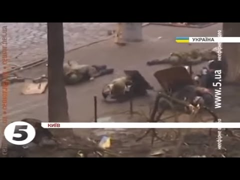Euromaidan - Riot police and snipers shoot at protesters in Kiev Ukraine