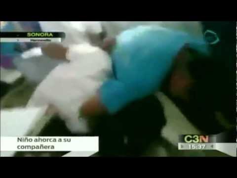 Niño asfixia a su compañera hasta dejarla inconsciente / Caso de bullying en Sonora