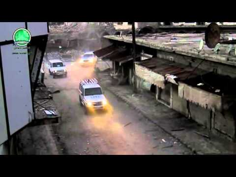 Syria||Homs|| aid convoy under fire p 2 - 8-2-2014