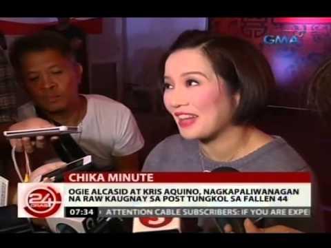 24Oras: Ogie Alcasid At Kris Aquino, nagkapaliwanagan na raw kaugnay sa post tungkol sa Fallen 44