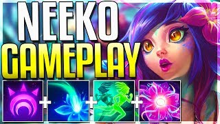 Worlds First Neeko Gameplay! All Spells, Skins & Emotes Revealed! - League of Legends