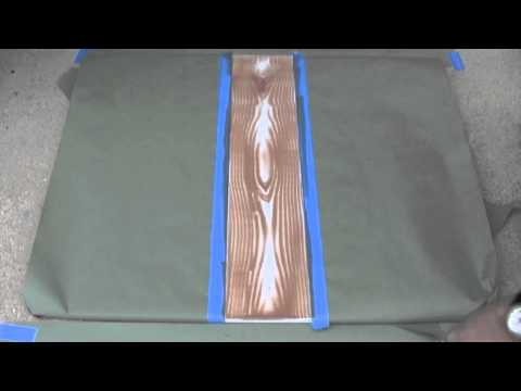 How To Make A Wood Grain Design On Concrete Youtube