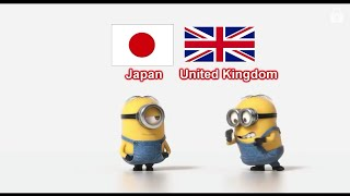 Japanese police cars vs United Kingdom police cars