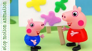 Peppa Pig's Art toys stop motion animation