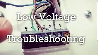 HVAC - Low Voltage Troubleshooting
