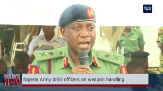 Nigeria Army drills officers on weapon handling (Nigerian News)