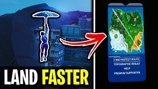 How To Land Faster Than Everyone Else In Fortnite! (1st To Loot)