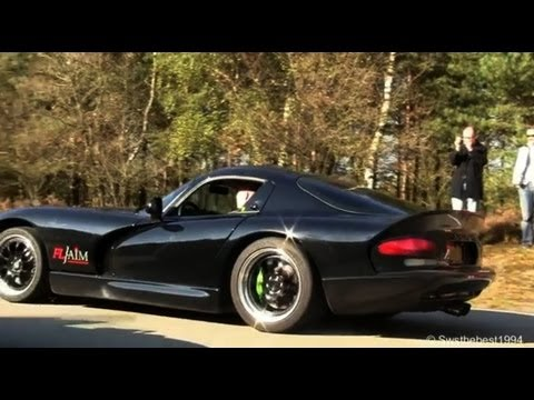 (HD) Dodge Viper GTS Heffner 650 - LOUD REVS. HARD ACCELERATION. great sound
