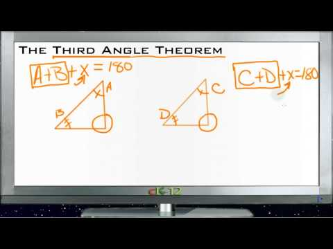 The Third Angle Theorem Principles - Basic