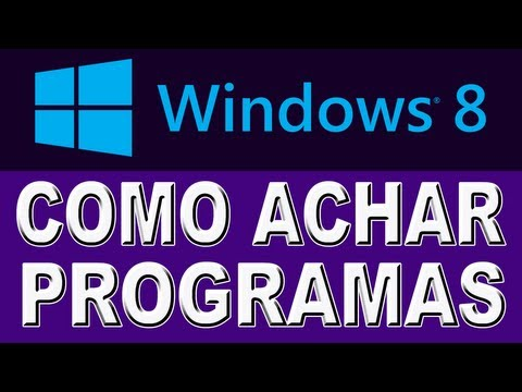 Como Achar os Programas no Windows 8