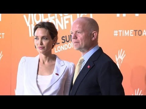 Jolie, Hague open summit on sexual violence in conflict