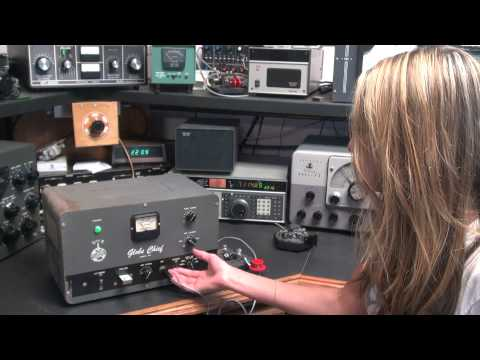 Globe Chief 90 CW Ham Radio Tube Transmitter Demo de KC8HVM