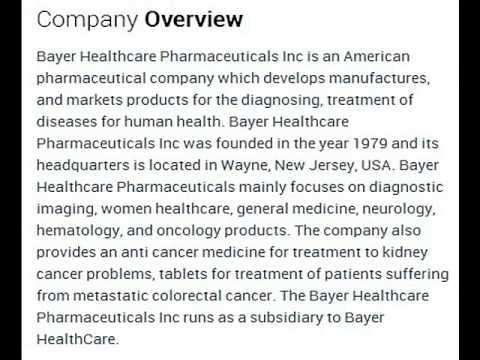 Bayer Healthcare Pharmaceuticals Inc Corporate Office Contact Information
