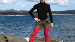 Styling Men Leggings Pantyhose and tights for men. Shiny Black Leggins For Men