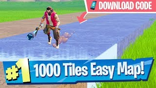 """""""Change the color of 1000 tiles"""" Easy Map Code (Downtown Drop Challenge) - Fortnite Battle Royale"""
