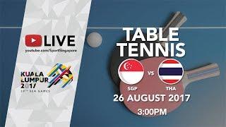 Table Tennis 🏓 Women's Team Finals Singapore 🇸🇬 vs 🇹🇭 Thailand | 29th SEA Games