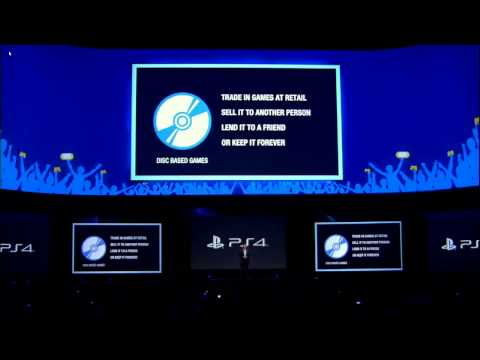 PS4 will Not restrict used games & Will Play offline E3 2013 Sony Press Conference�Highlights� E3M13