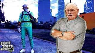 UPSET GRAMPA AND HIS FRIENDS GET TRASHED IN FREEMODE!! (GTA 5 ONLINE)