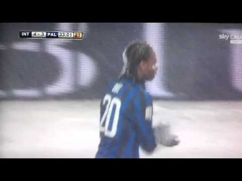 Inter Palermo 4-4 Obi si tuffa nella neve!!!