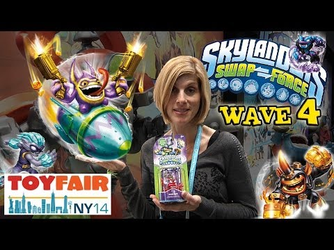 Skylanders SWAP FORCE Wave 4 at the NY TOY FAIR! Exclusive LOVE BUG Dune Bug! 2014
