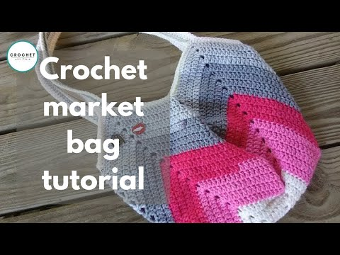 Granny Square Bottom Bag Crochet Tutorial - YouTube