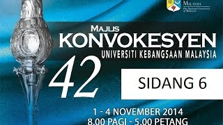 SIARAN LANGSUNG MAJLIS KONVOKESYEN UKM KE-42 SIDANG 6