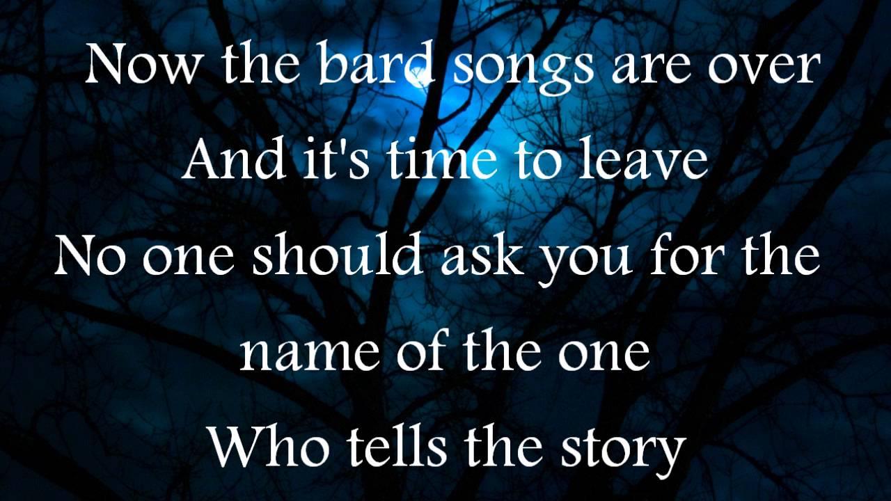 Blind Guardian The Bard S Song Lyrics Youtube